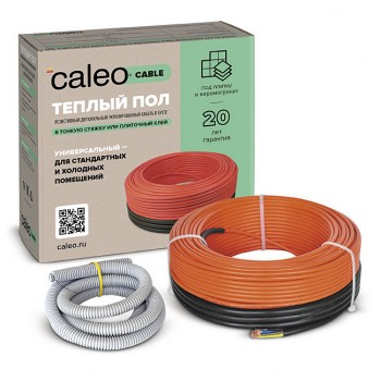 Теплый пол CALEO CABLE 18W-90 (1,62 кВт / 8,1 м2 - 12,5 м2)