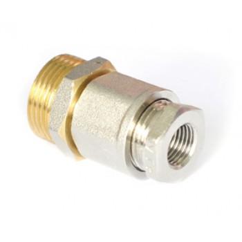 Муфта для ввода нагревательного кабеля внутрь трубы